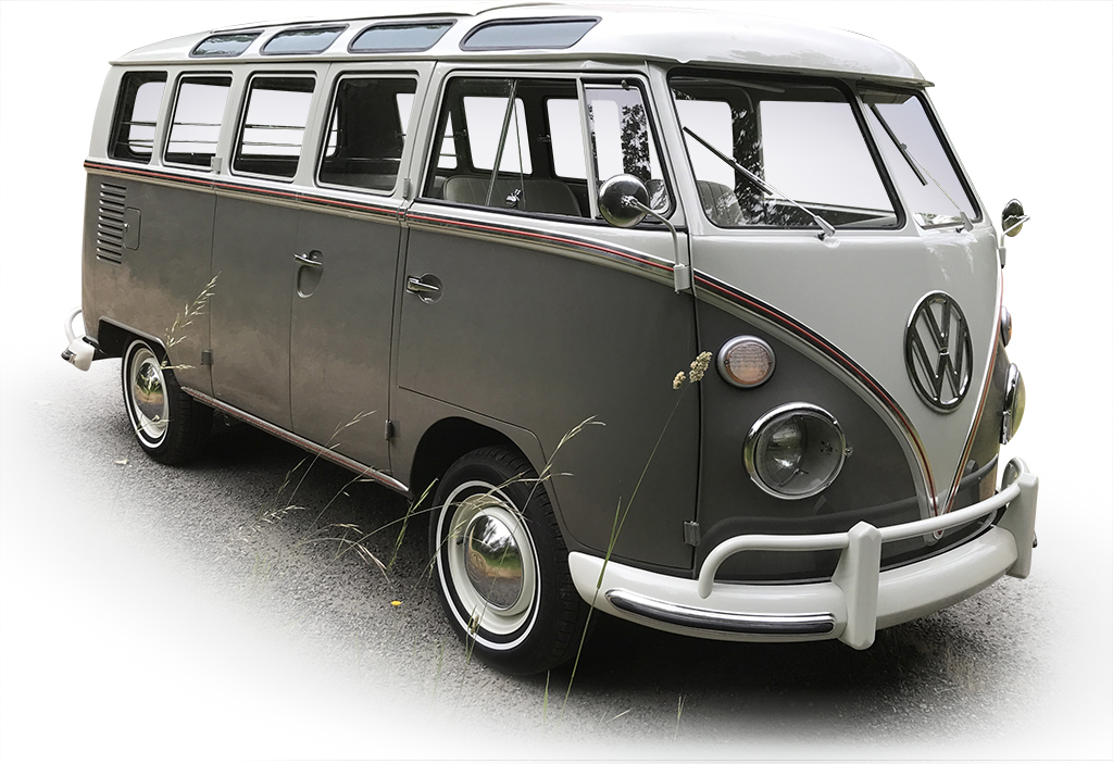 Heading to Las Vegas at No Reserve is this completely restored 1964 Volkswagen 21-Window Bus (Lot #764).