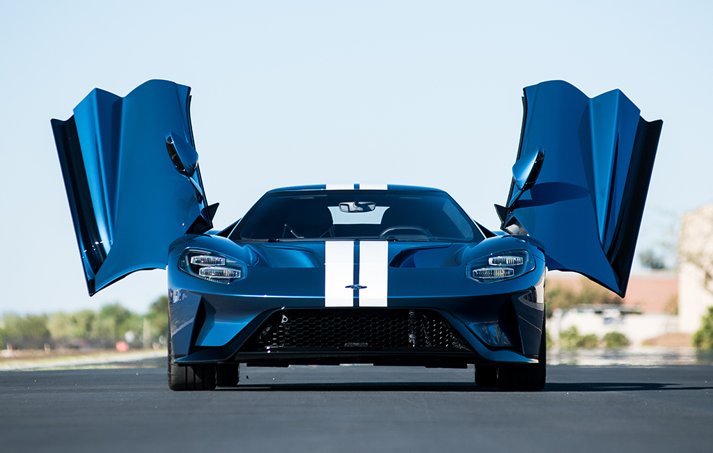 This Extremely Rare Liquid Blue  Ford Gt Lot  Will Be Crossing The  Barrett Jackson Scottsdale Auction Block For Charity