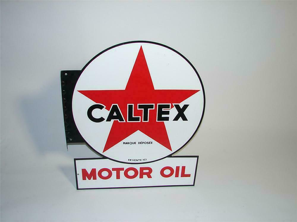 N O S  over-sized 1950s CalTex (California-Texas) Motor Oil d