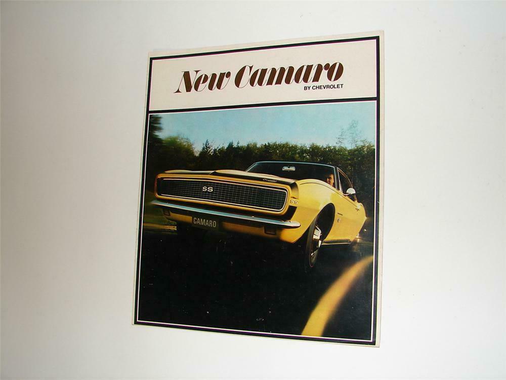 1968 CHEVROLET CAMARO SALES CAR BROCHURE MINT