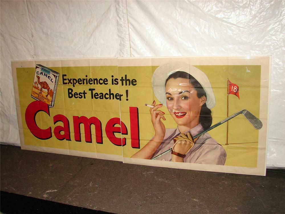 Addendum Item - Large N O S  1947 Camel Cigarettes two pieces