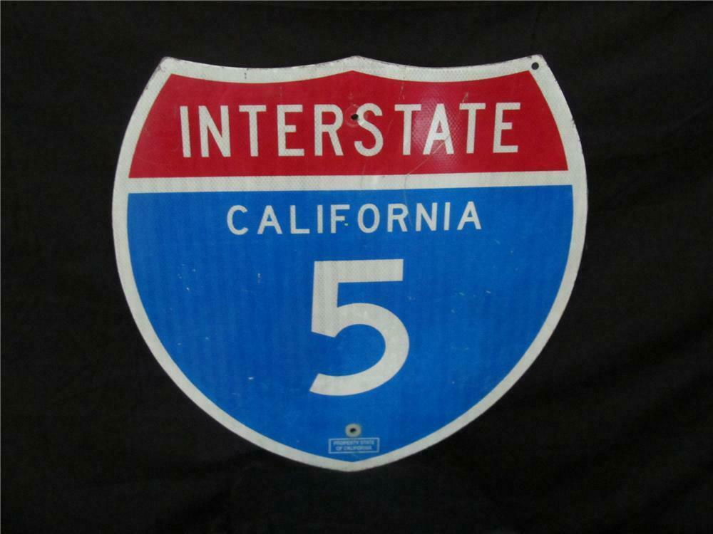 Addendum Item - Vintage California Interstate 5 metal highway