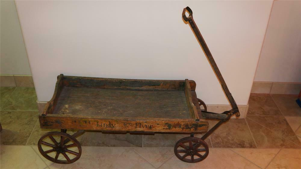 Circa Late 1920s Lindy Flyer All Original Wooden Childs Wag