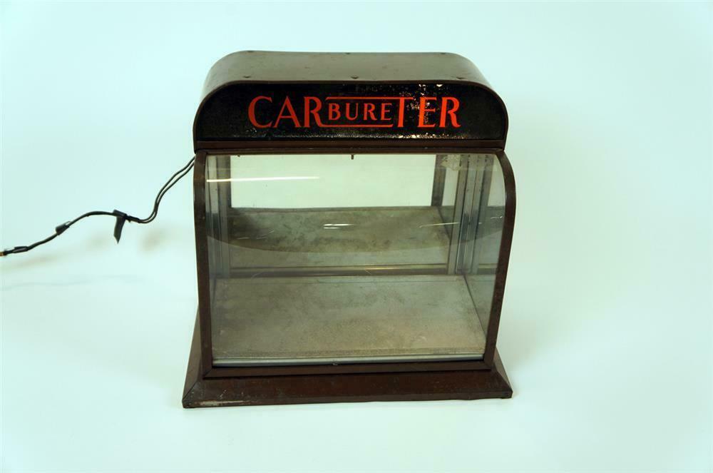 1930's Carter Carburetor light-up automotive garage counter-t -