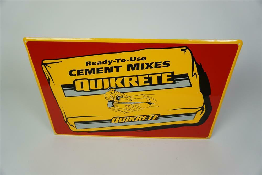 NOS Quikrete Cement Mixes single-sided self-framed tin sign w