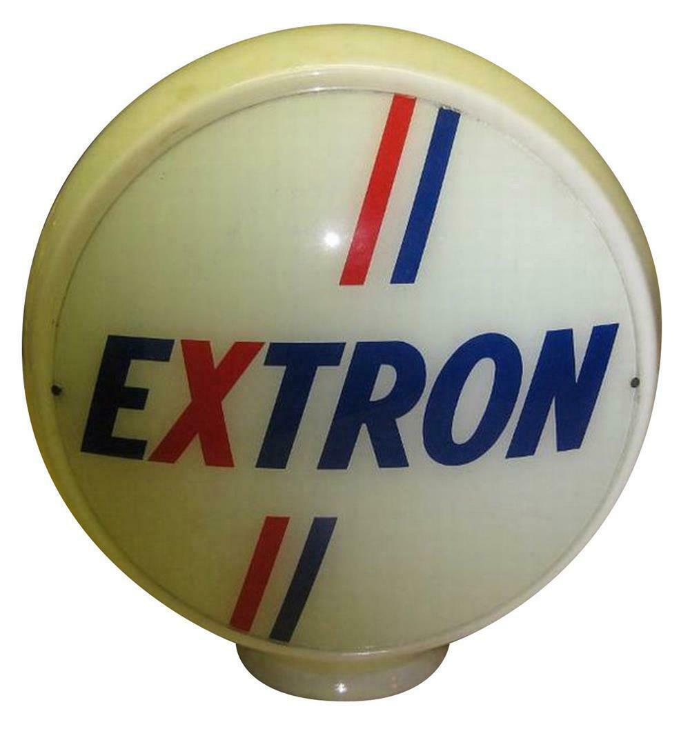1950s Extron Gasoline glass bodied gas pump globe