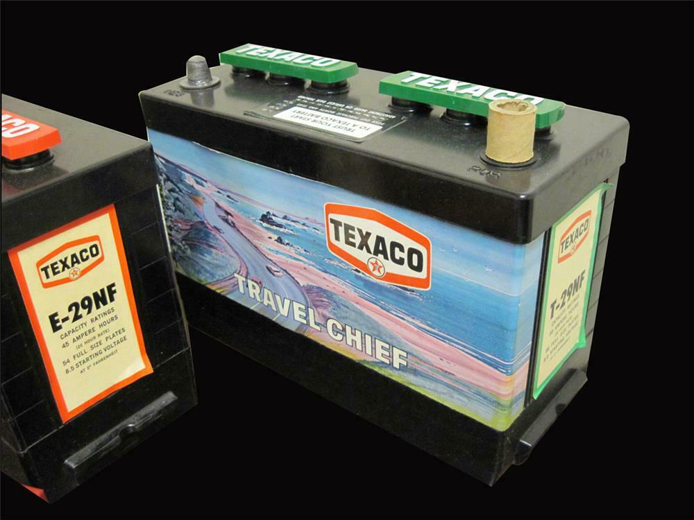 Lot of two NOS 1960s Texaco Batteries  Found new and unused