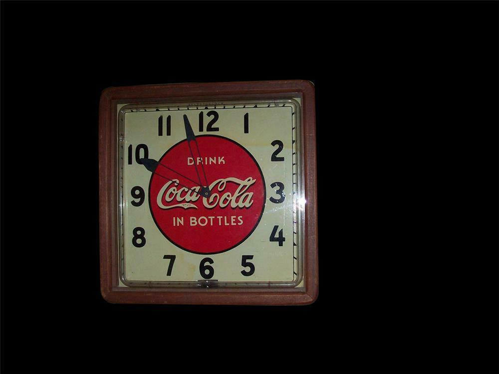 1930s Coca-Cola wood framed neon diner clock