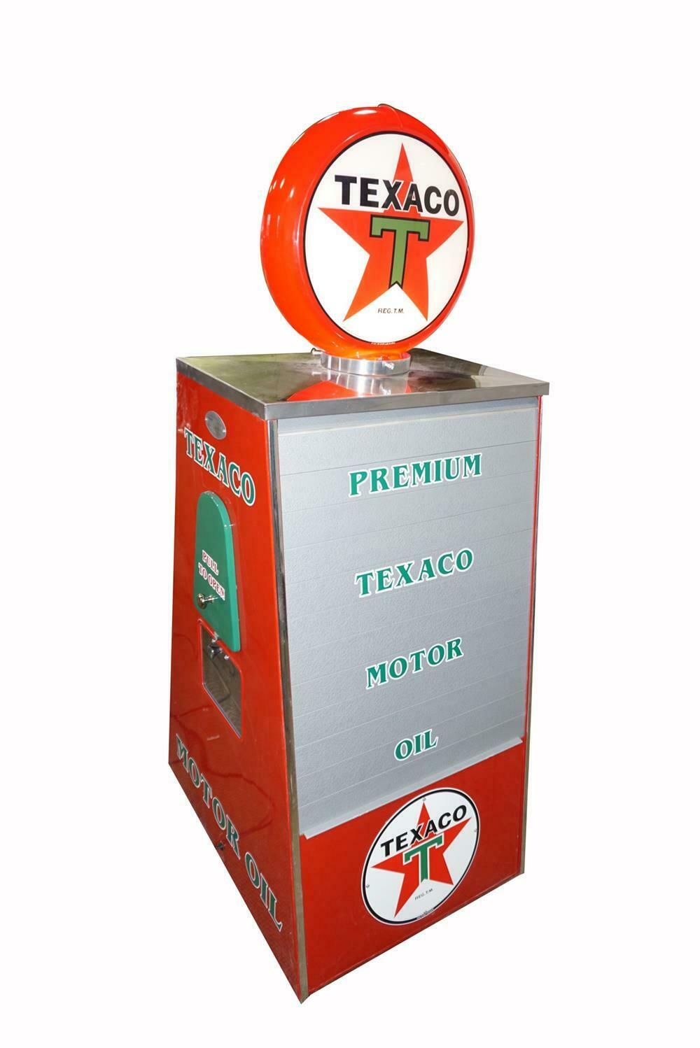 Nicely Red Circa 1940s 50s Texaco Oil Sel Fuel Island Can Display