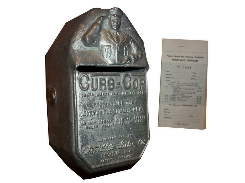 Vintage Police Curb box Parking ticket box