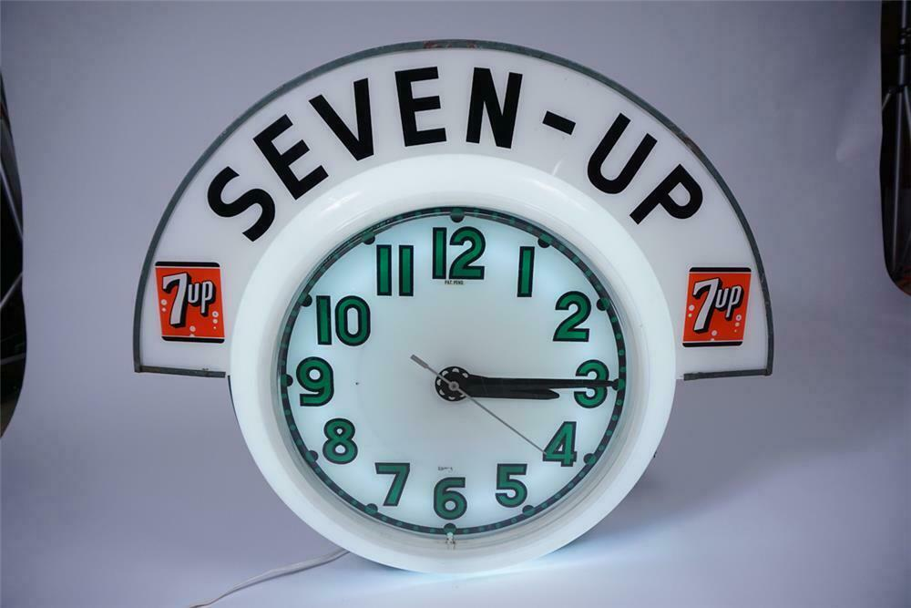 Museum-quality all-original 1950s 7-up Soda neon diner clock