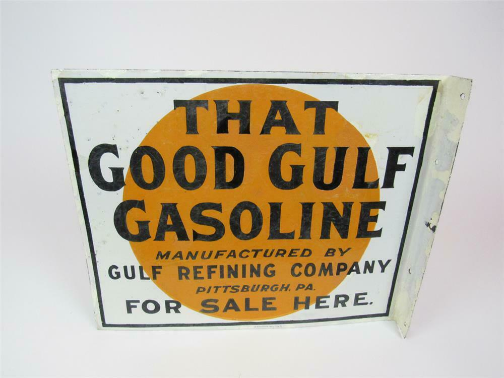 1930s That Good Gulf Gasoline double-sided porcelain service