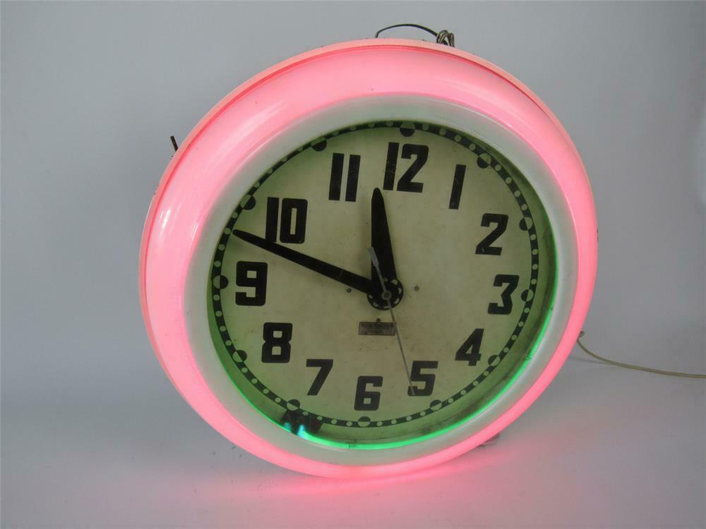 All original 1940s-50s neon service station/diner clock by th