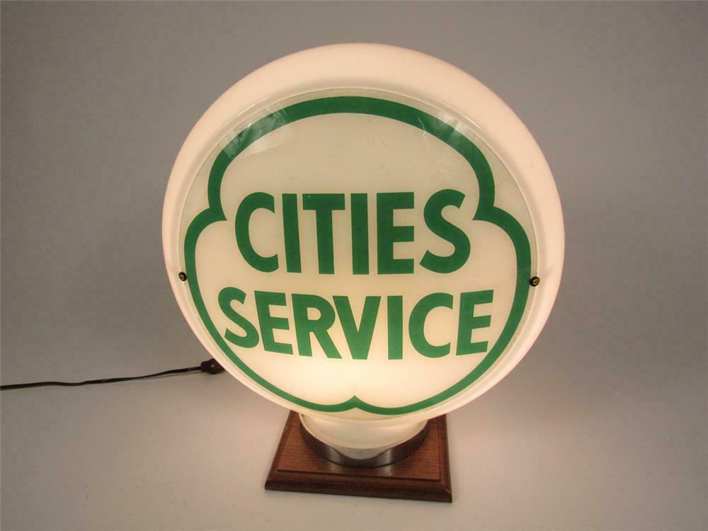 CITIES SERVICE GREEN GAS PUMP GLOBE