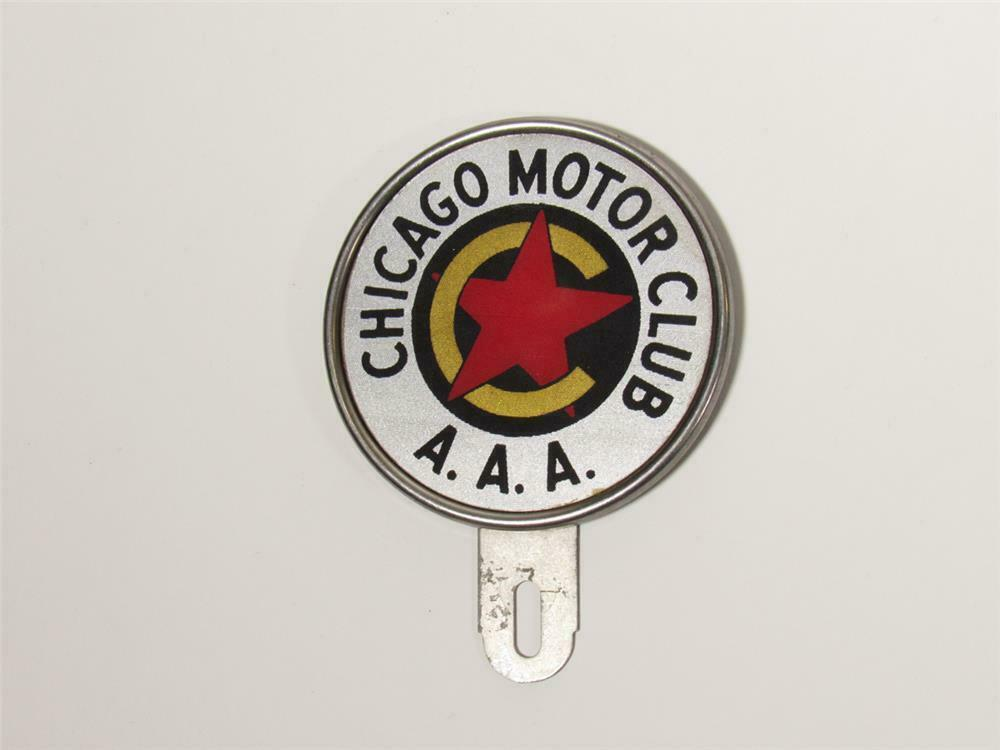 Very clean 1930s chicago motor club aaa license plate for Aaa motor club chicago