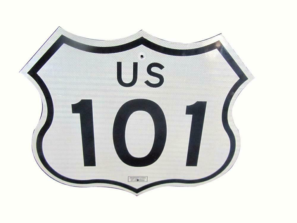 Desirable U S  101 highway 'Pacific Coast Highway' die-cut me