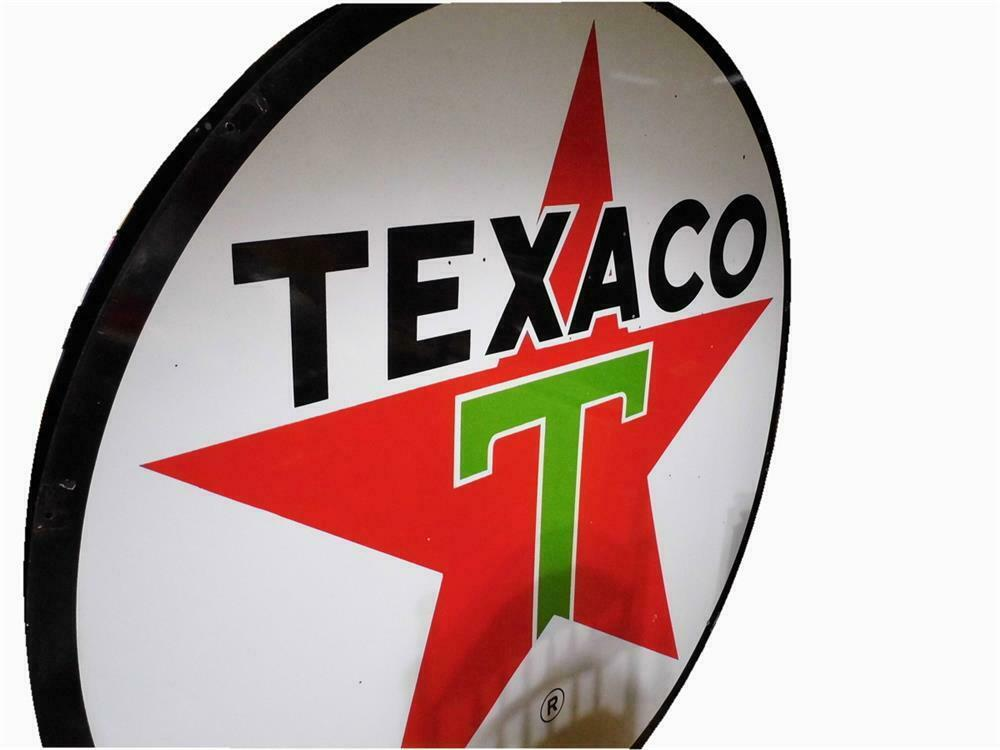 Desirable Texaco Oil double-sided porcelain service station s