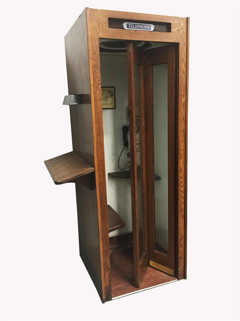 1930S-40S BELL TELEPHONE WOODEN PHONE BOOTH