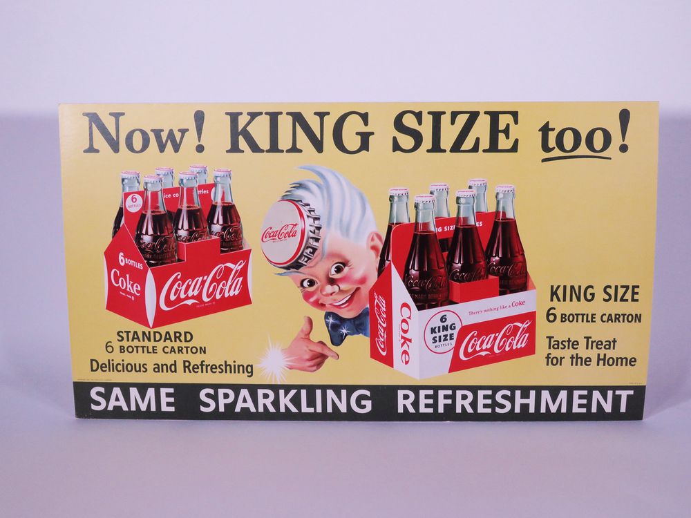 1955 coca-cola store display poster with sprite boy image