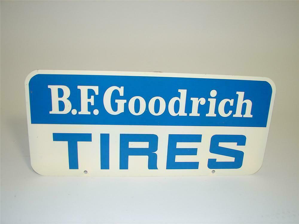 77dc41b0865 Small 1950s B.F. Goodrich Tires (blue/white) tin sign.
