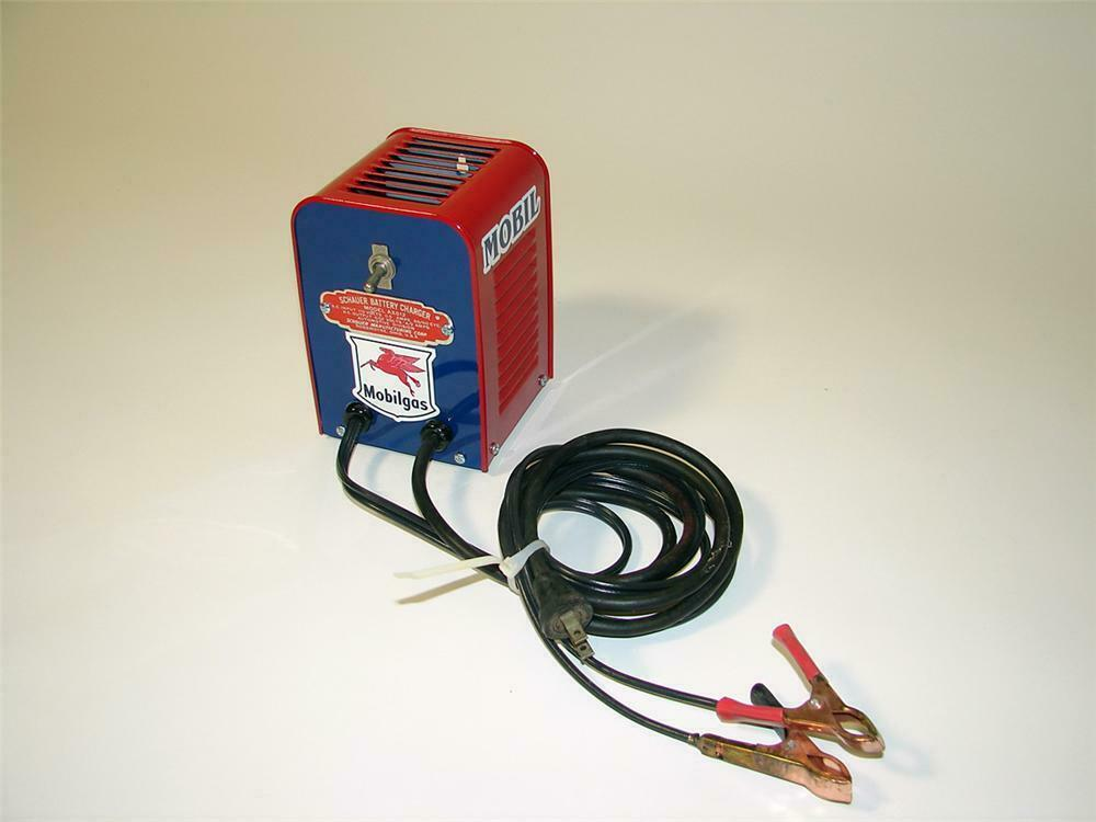 Nifty 1930s-40s Mobil Service Garage restored Schauer battery on alarm testing, alarm switch, alarm safety, alarm transformer, alarm power supply, alarm horn,