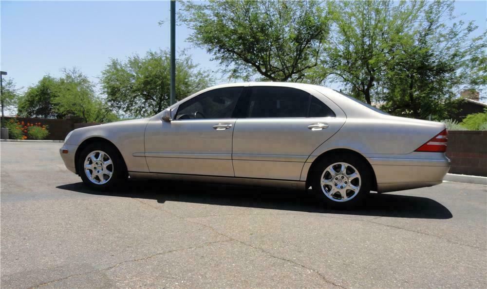2002 Mercedes Benz S430 4 Door Sedan Side Profile 130720