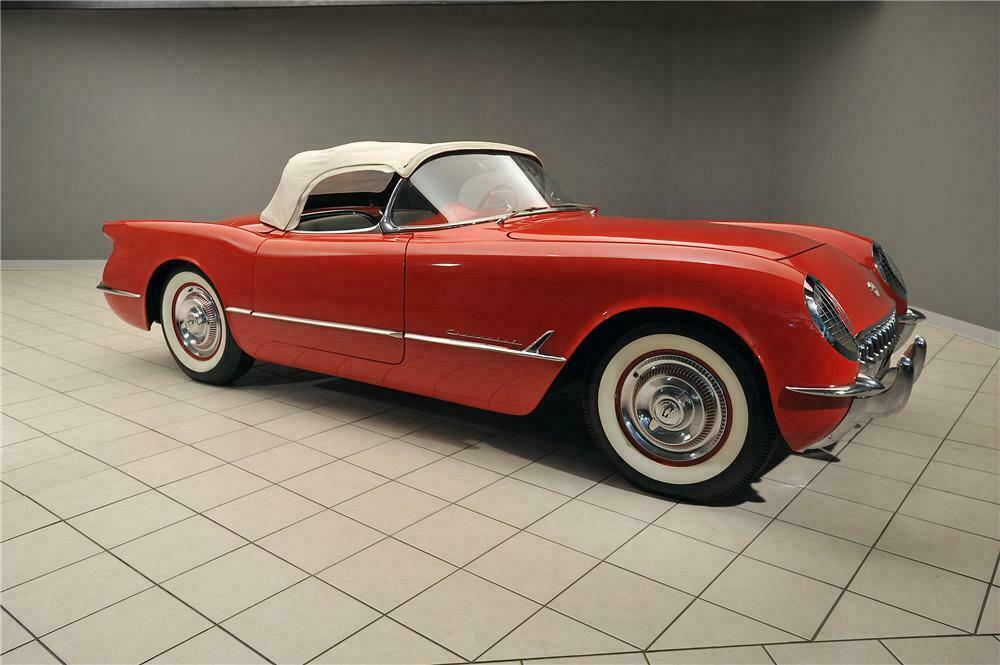 1955 Chevrolet Corvette Convertible Side Profile 138019