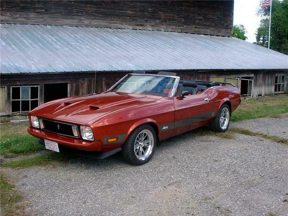 1973 Ford Mustang Convertible Front 3 4 151394
