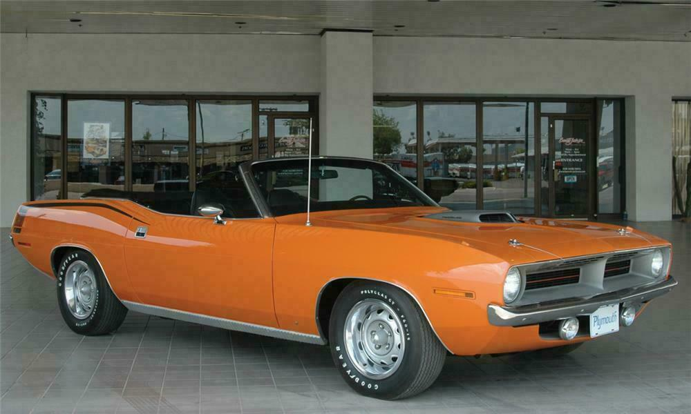 1970 Plymouth Hemi Cuda 2 Door Convertible Front 3 4 15652