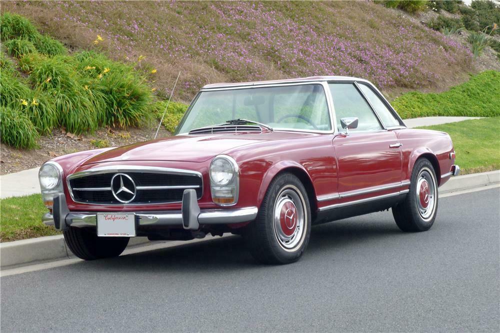 1968 Mercedes Benz 280sl Convertible Front 3 4 162346