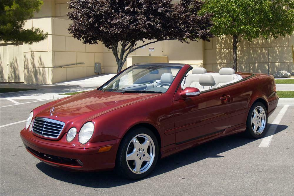 2001 Mercedes Benz Clk430 Convertible Front 3 4 170326