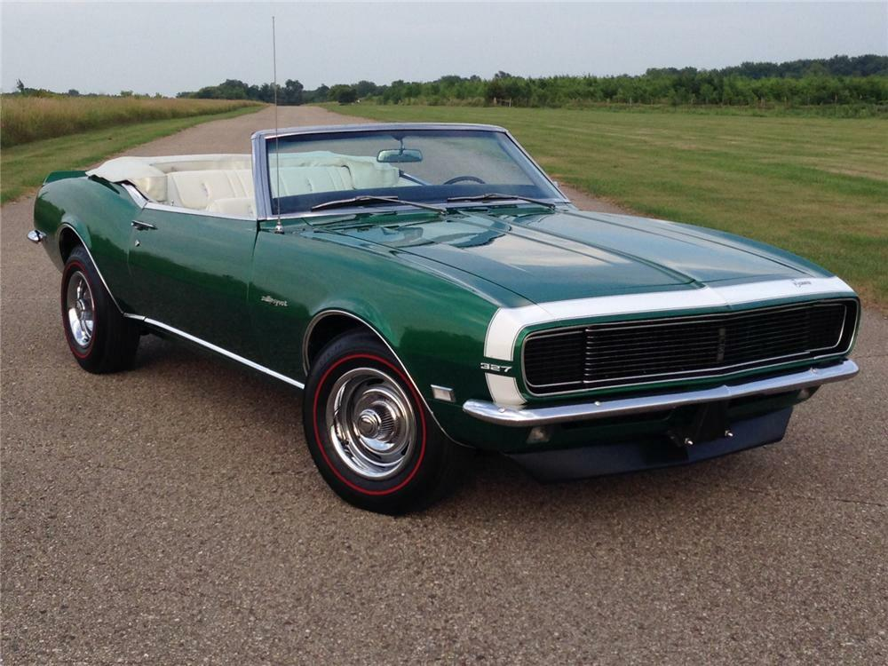 1968 Chevrolet Camaro Rs Convertible Front 3 4 177051