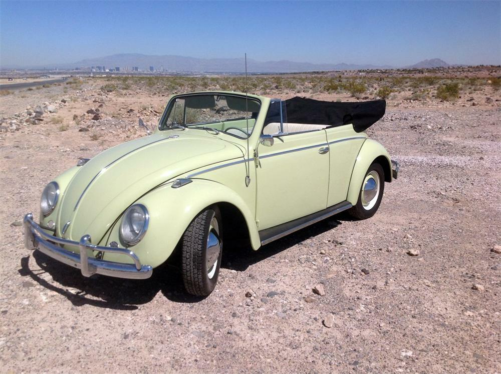 1964 Volkswagen Beetle Custom Convertible Front 3 4 177179