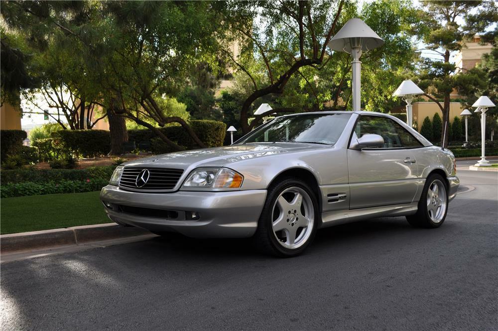 2000 Mercedes Benz Sl500 Convertible Front 3 4 178122