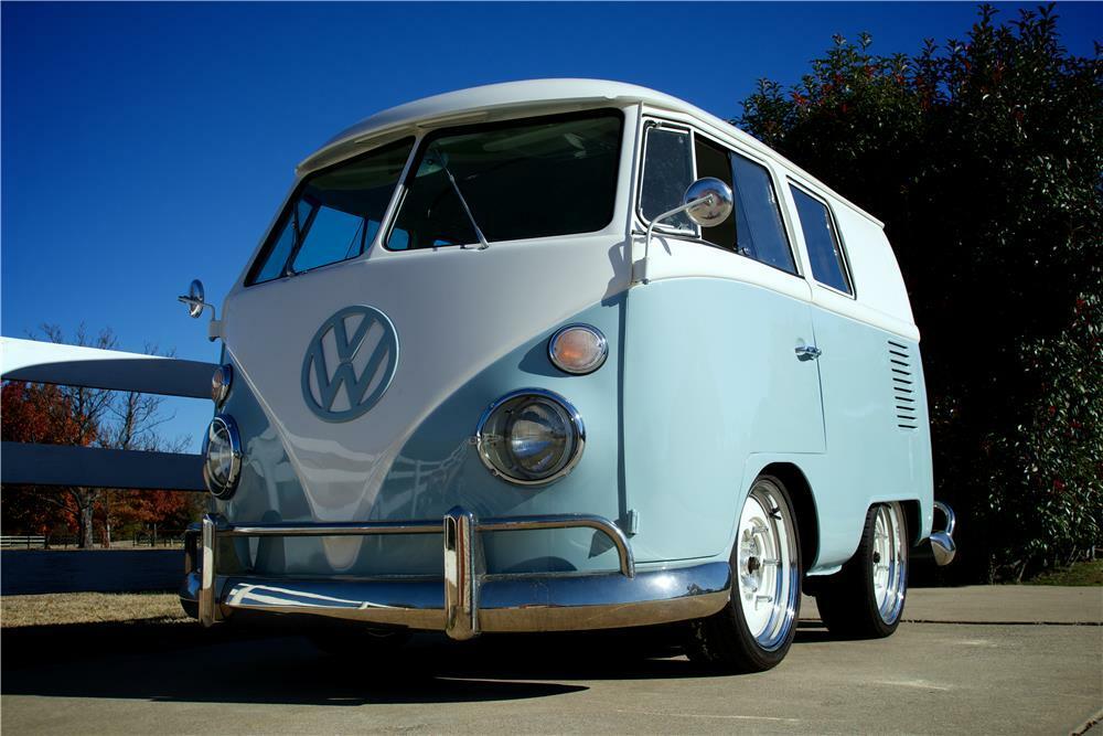 1966 Volkswagen Van Custom Shorty Bus Front 3 4 181627