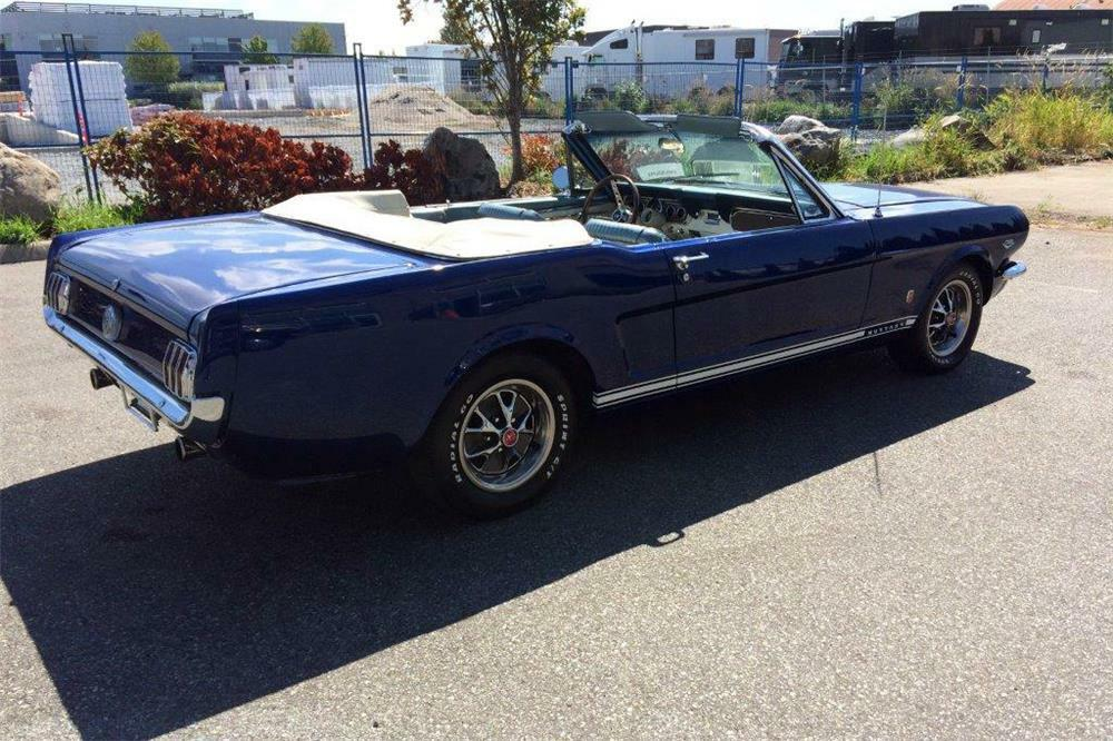 1966 Ford Mustang Convertible Rear 3 4 186962