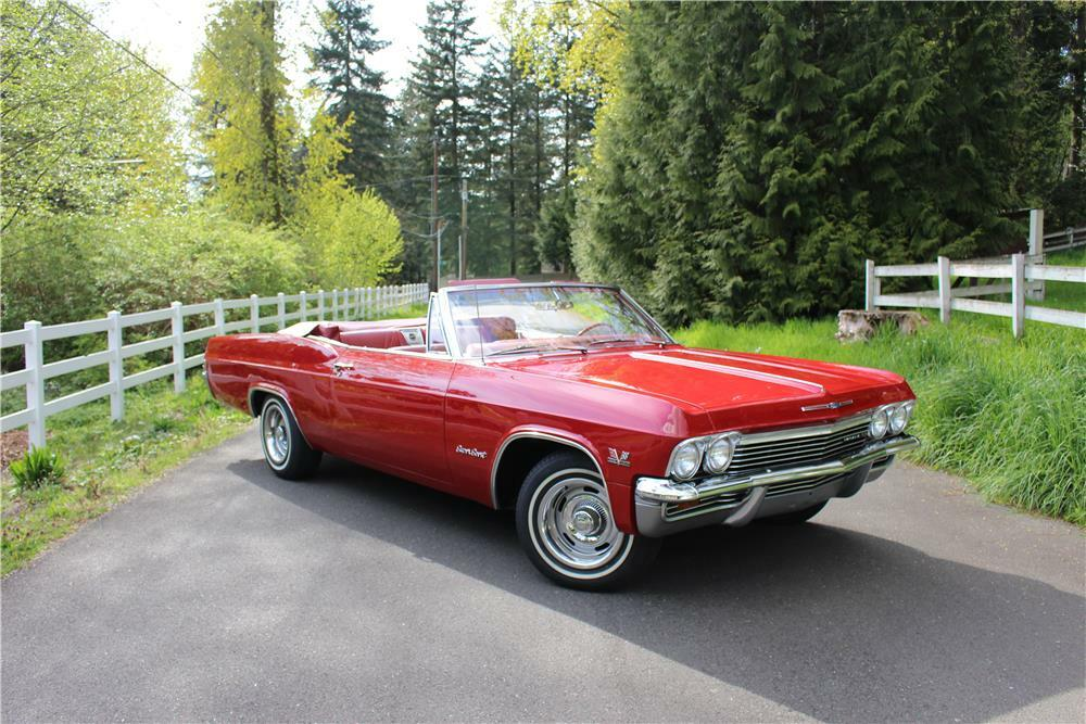 1965 Chevrolet Impala Ss Convertible Front 3 4 187276