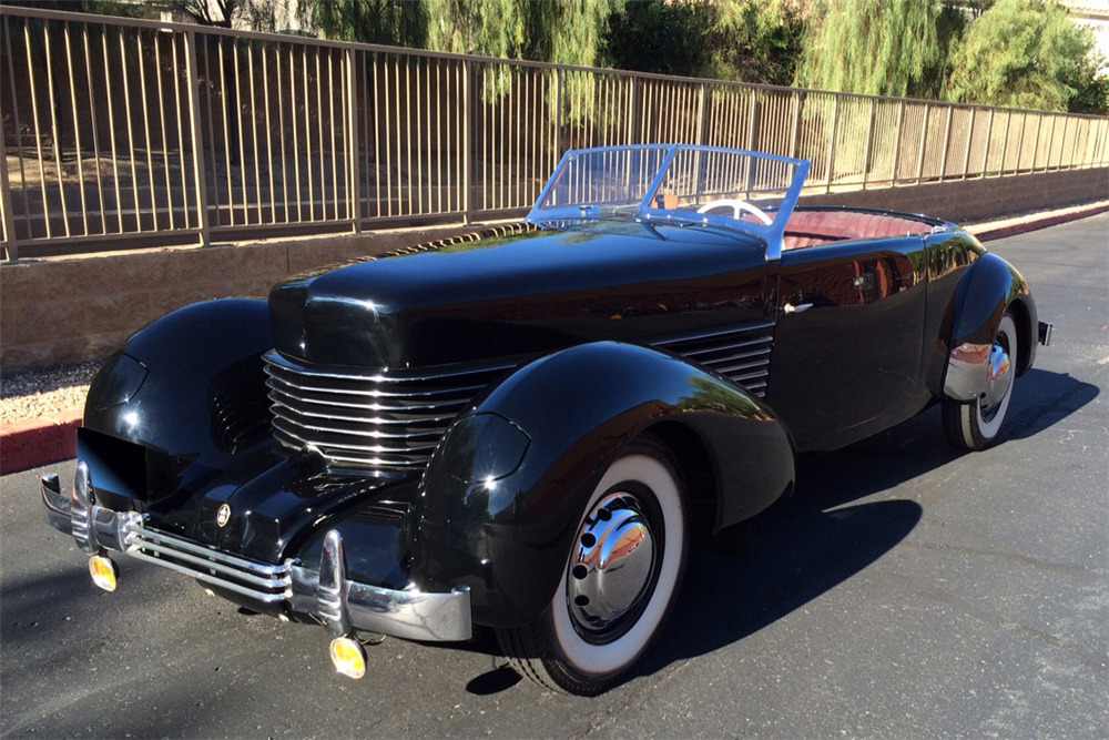 1937 Cord 812 Phaeton V8 Convertible Front 3 4 188984