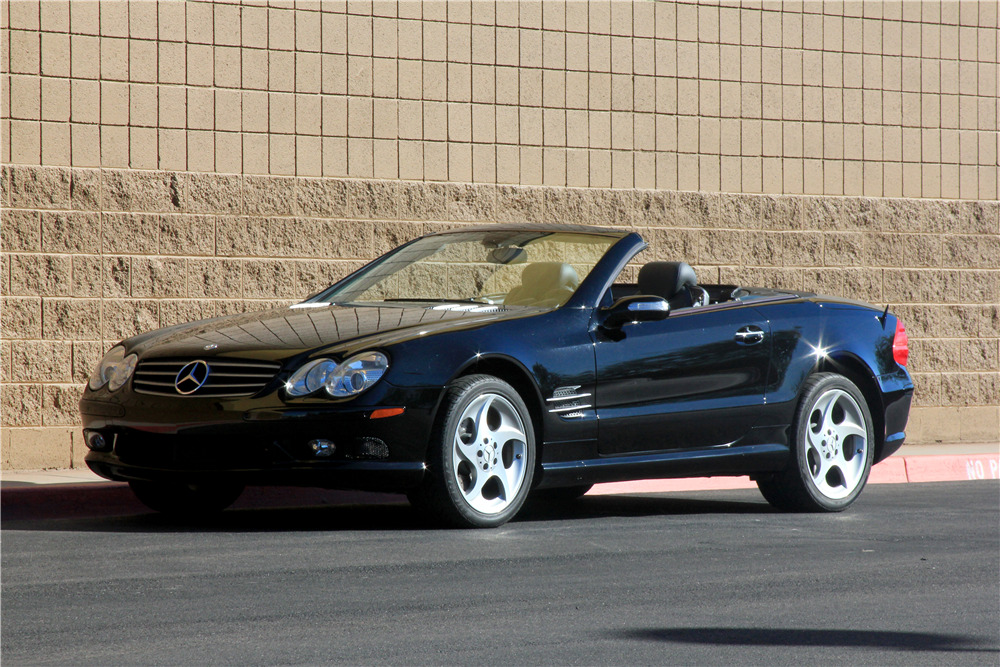 2005 Mercedes Benz Sl500 Convertible Front 3 4 189186