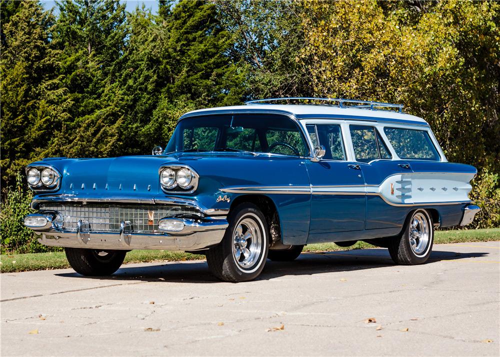 1958 pontiac star chief custom safari wagon