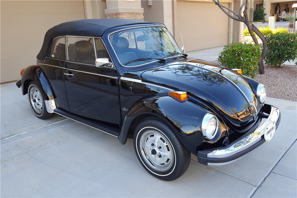 1979 Volkswagen Super Beetle Convertible Front 3 4 201054