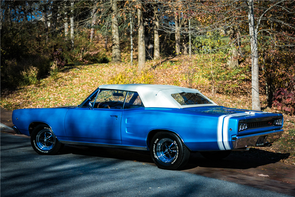 dodge 1968 coronet convertible rear cars