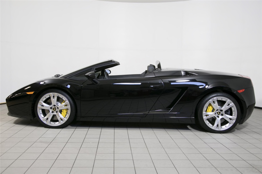 ... 2007 LAMBORGHINI GALLARDO SPYDER CONVERTIBLE   Side Profile   217971