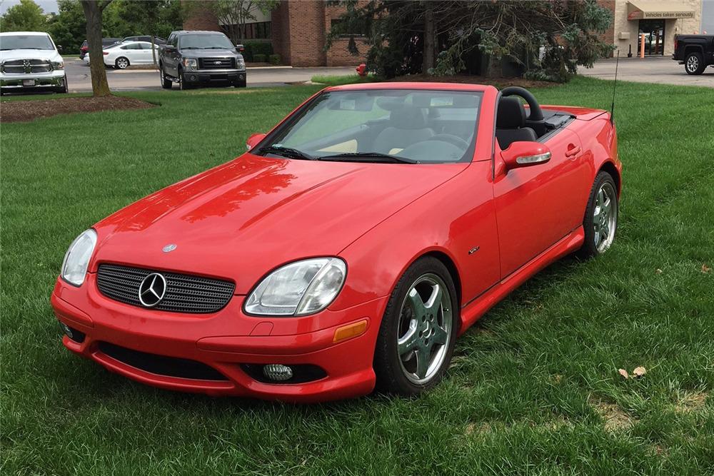 2003 Mercedes Benz Slk320 Roadster Front 3 4 222442