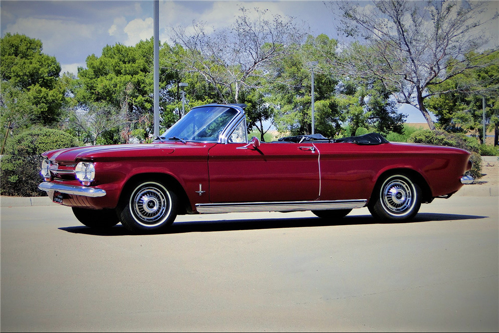 1963 Chevrolet Corvair Convertible Front 3 4 222880