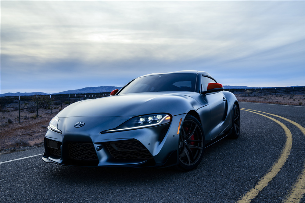 82e826586b5 ... 2020 TOYOTA SUPRA - FIRST PRODUCTION VIN 20201 - Front 3/4 - 227933 ...