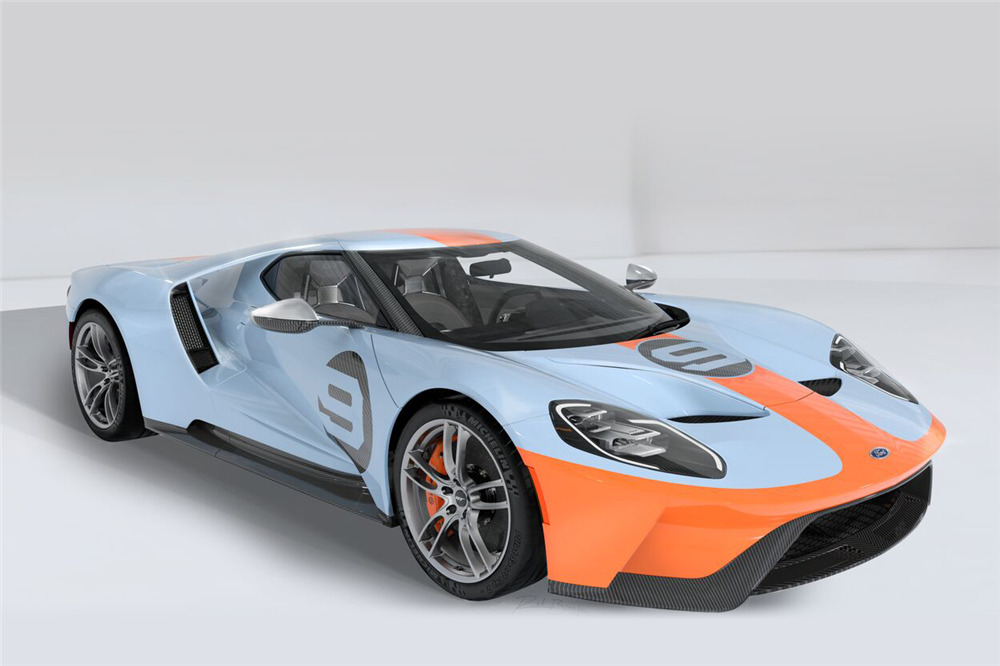 Ford Ford Auction >> 2019 Ford Gt Heritage Edition Vin 001