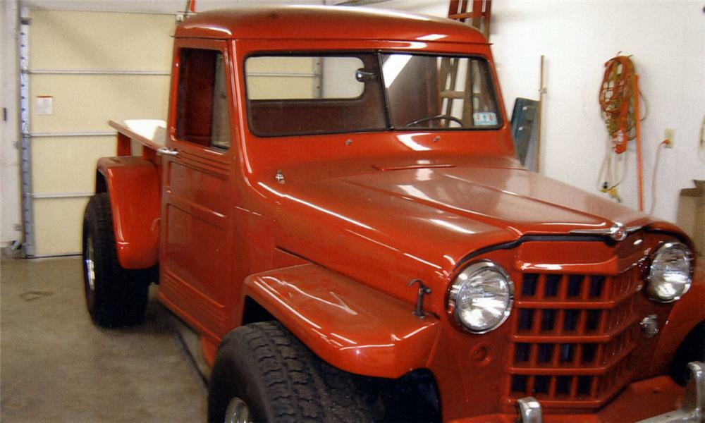 1952 WILLYS CUSTOM FLAT FENDER PICKUP -