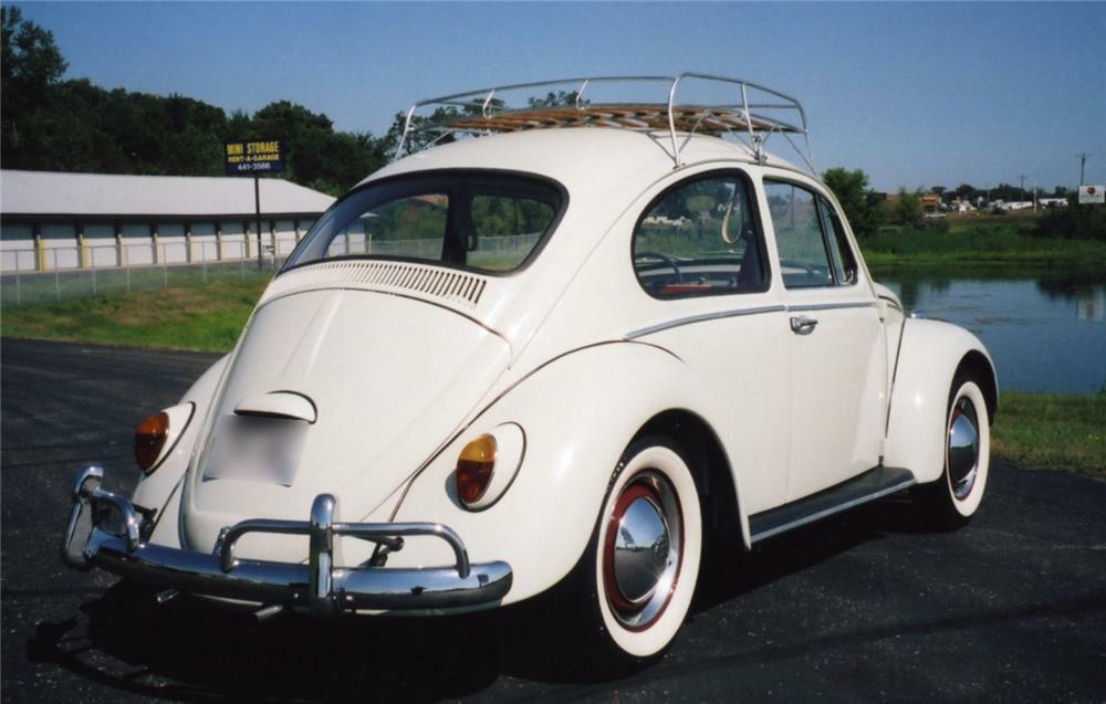 1961 Volkswagen Beetle Coupe Rear 3 4 43855