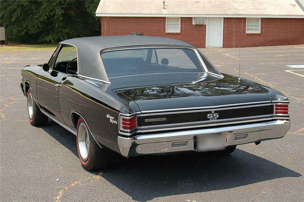 1967 Chevy Chevelle Coupe Rear Side Panels